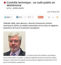 [TRIBUNE LIBRE] Bernard Bourrier, Président d'Autovision, pour L'Argus de l'automobile